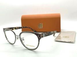 Tory burch ty 1055 3277 Bordeaux/silver 52-19-140mm eyeglasses frame/case - $77.57