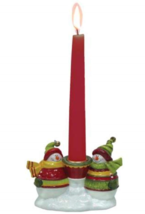 WL SS-WL-19215 Snowman Friends Taper Candle Holder Christmas Holiday Des... - $7.95