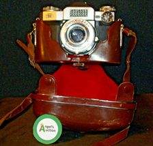 Zeiss Ikon Contaflex Super Camera with hard leather Case AA-192015 Vintage image 5