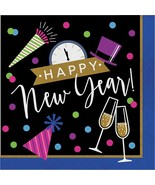 New Years Eve Cheers 16 Ct Luncheon Napkins Happy New Year - $4.35