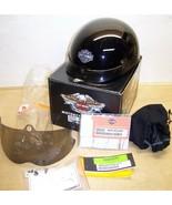 Harley Davidson motorcycle helmet black Medium 98249-06V with visor - $80.00