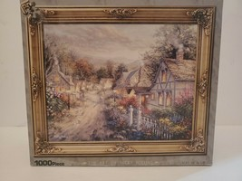 """The Art of Nicky Boehme """"Down Cottage Lane"""" 1000 Piece Picture Frame Puzzle - $18.69"""