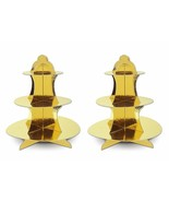 2pk GOLD Cupcake Stand #-Tier Dessert tower Birthday Party Table Display... - $14.01