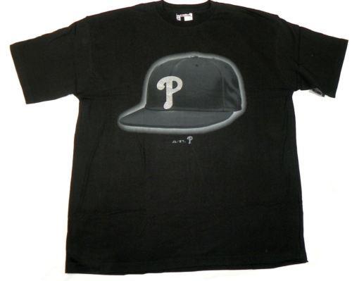 Men's Big Philadelphia Phillies Shirt Baseball Tee T-Shirt Bling Cap Logo