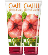 Bath & Body Works Oahu Coconut Sunset - 1 Set of 2 - 8.0 Ounces Body Cream  - $26.68