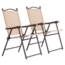 NEW! Patio Sling Back Chairs Deck Garden Beach Set of 2  - $66.25