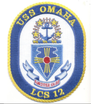 "USS OMAHA LCS 12 LITTORAL COMBAT 5"" EMBROIDERED PATCH - $17.14"