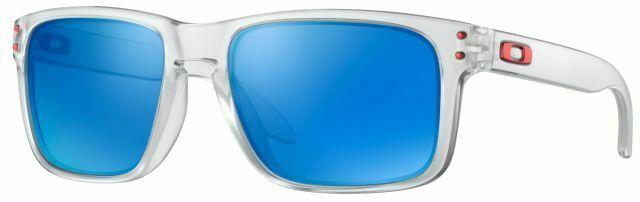 Oakley Holbrook Sunglasses OO9102-F355 Polished Clear / Sapphire Iridium