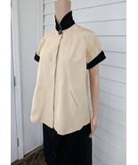 50s Maternity Jacket Set Velvet Collar Vintage Blouse Kangaroo Belly Ski... - $43.00