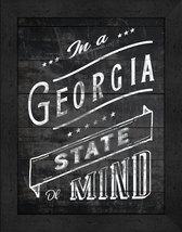 """In a Georgia State of Mind"" 12 x 16 Charcoal-Like Background Framed Print - $39.95"