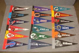 Lot of 18 NFL Football Mini Pennants Rico Tag Express - $20.00