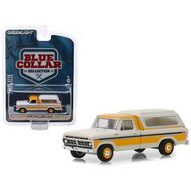 1977 Ford F-100 Pickup Truck with Camper Shell Cream and Orange Blue Col... - $14.51