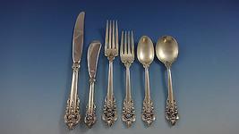 Grande Baroque by Wallace Sterling Silver Flatware Set Service 48 Pieces - $2,895.00