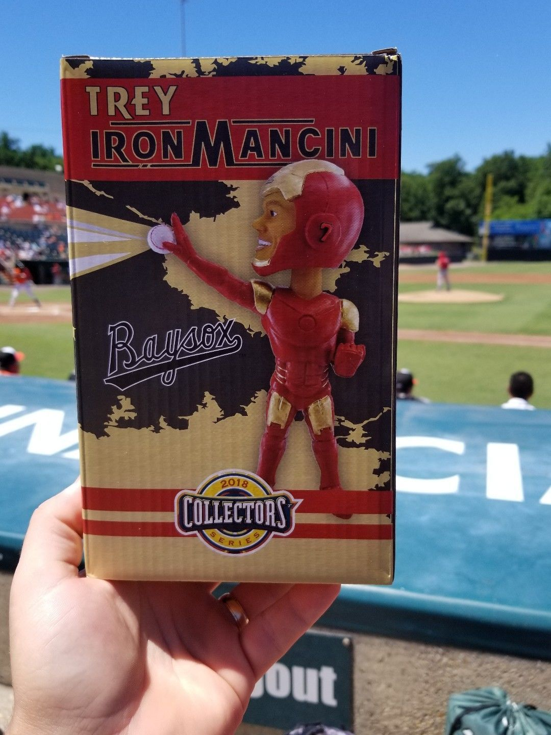 Primary image for TREY MANCINI IRON MANCINI 2018 BOWIE BAYSOX BOBBLEHEAD