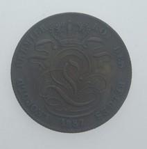 1857 Belfa 5 Céntimos Cobrizo Monedas en XF Condición Km#5.1 - $107.01