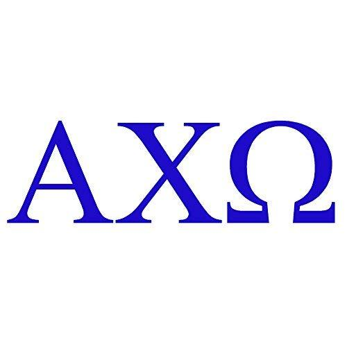 "Primary image for ALPHA CHI OMEGA (2 pack) - size: 6"" Long, color: BLUE - Windows, Walls, Bumpers,"