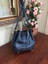 Coach Bag Metallic Blue Grain Leather Baby Mickie Crossbody Bag F35363 B2I - $116.09