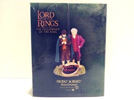 Rare Department 56 Lord Of The Rings Frodo & Bilbo Resin Christmas Ornament - $89.99