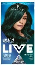 4 x Schwarzkopf Live METALLIC SHINE  Permanent Hair Dye MIDNIGHT JADE GREEN - $38.41