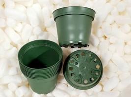 "4"" Plastic Nursery Pot (10-Pack) Mossgreen Classic Round Pots - $6.92"