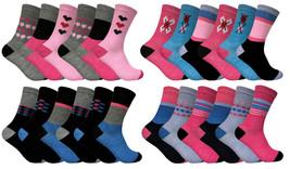 Soxinnabox - 6 paires femme fantaisie motif imprimees rose motif chausse... - $10.65