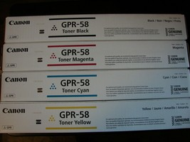 Genuine Canon GPR-58 Cmyk Toner For I R Advanced C256 C356- Free 2ND Day Shipping - $322.69