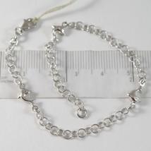 White Gold Bracelet 750 18K on Wheel Rim Machined & Dolphins, Length 19 CM image 1