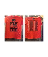 LARGE Philadelphia Flyers Hockey Two Sided Shirt Fly or Die & 2019/20 Sc... - $10.00
