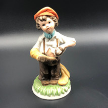Capodimonte Vintage Figurine Italy Boy Shoemaker Cobbler Shoe Maker Boot Statue - $64.35