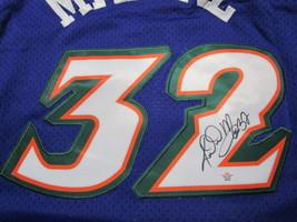 KARL MALONE / NBA HALL OF FAME / AUTOGRAPHED UTAH JAZZ THROWBACK JERSEY / COA image 3