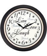 Westclox 32032 12 Round Live Love Laugh Message Clock - $27.50