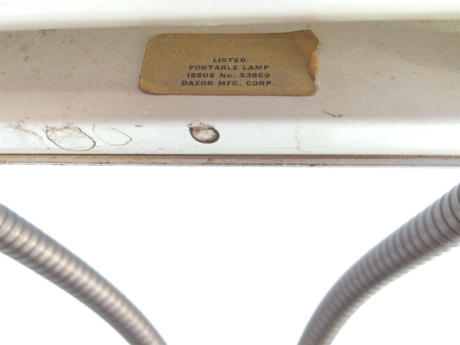 Vintage Dazor Industrial Art Deco Desk Lamp Model 1000