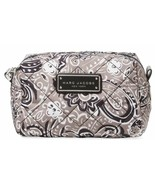 Marc Jacobs Cosmetic Bag Quilted Paisley Pouch Large Grey NEW - $69.30