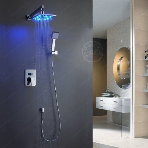 B&R Single Handle Wall Mount Shower Faucet with 12 Inch Showerhead and Side Bar  - $366.25