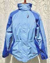Girls SPYDER Ski Jacket Snow Coat Pockets Inside Cinch Waist Blue Sz 16 ... - $71.99
