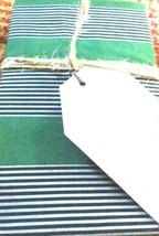 2 Pottery Barn Teen Brooklyn Stripe Standard Pillow Cases 26x20 Green Grey Black - $24.71