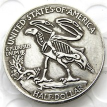 Hobo Rare 1916 Walking Liberty Half Dollar Skull Design Coin Hand Made - $11.99
