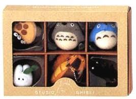 Sun Arrow Studio Ghibli My Neighbor Totoro Six Mascots 9cm with Ball cha... - $37.77