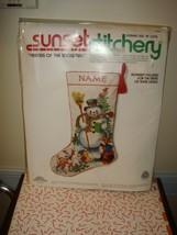 Sunset Stitchery Friends Of The Snowman Stocking Embroidery Stitch Kit - $196.99