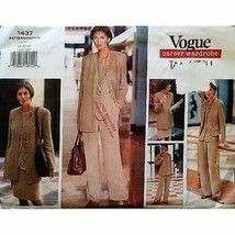 Jacket Vest Top Skirt Pants Vogue 1437 Pattern Tamotsu Size 14-18 Career... - $6.99
