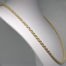 18K YELLOW GOLD CHAIN NECKLACE 5 MM BIG BRAID ROPE LINK 23.60 IN. MADE IN ITALY image 4