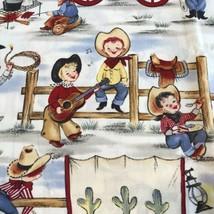 Lil Cowpokes Michael Miller Fabric Material Kids Cowboy Western 43 X 36 ... - $11.36