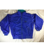 Mens Patagonia Vintage USA Jacket Size S Fleece Lined Nylon Zip Blue - $37.39