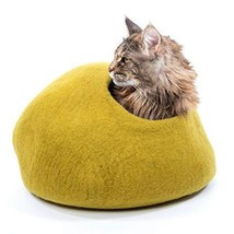 Mimis Daughters Luxury Premium Handcrafted Felted Wool Cat Cave Bed for ... - £789.50 GBP