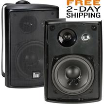 Indoor Outdoor Speakers 3-Way 100Watt Weather Resistant Home Sound Audio... - $41.28