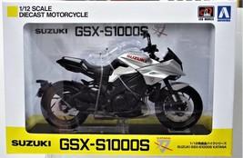 Aoshima Skynet 1/12 Bike Model Suzuki GSX-S1000S Katana Metallic Mystic Silver - $57.46