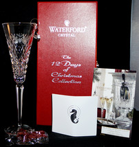 Waterford Crystal 12 Days of Christmas Champagne Flute in Box Two Turtle Doves  - $69.99