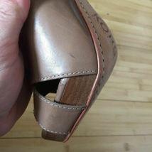 Michael Kors Heels Open Toe leather tan nude size 9.5 EUC image 5