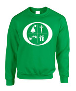 Adult Sweatshirt O Christmas Symbols Trendy Ugly Xmas Top Cool Gift - $28.94+