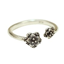 Silver Ring Simple Tail Ring Opening Ring Accessories Retro Fashion Ring image 2